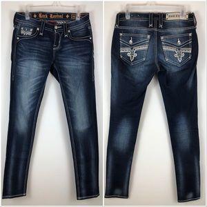 Rock Revival Lam Skinny Jeans Dark Wash